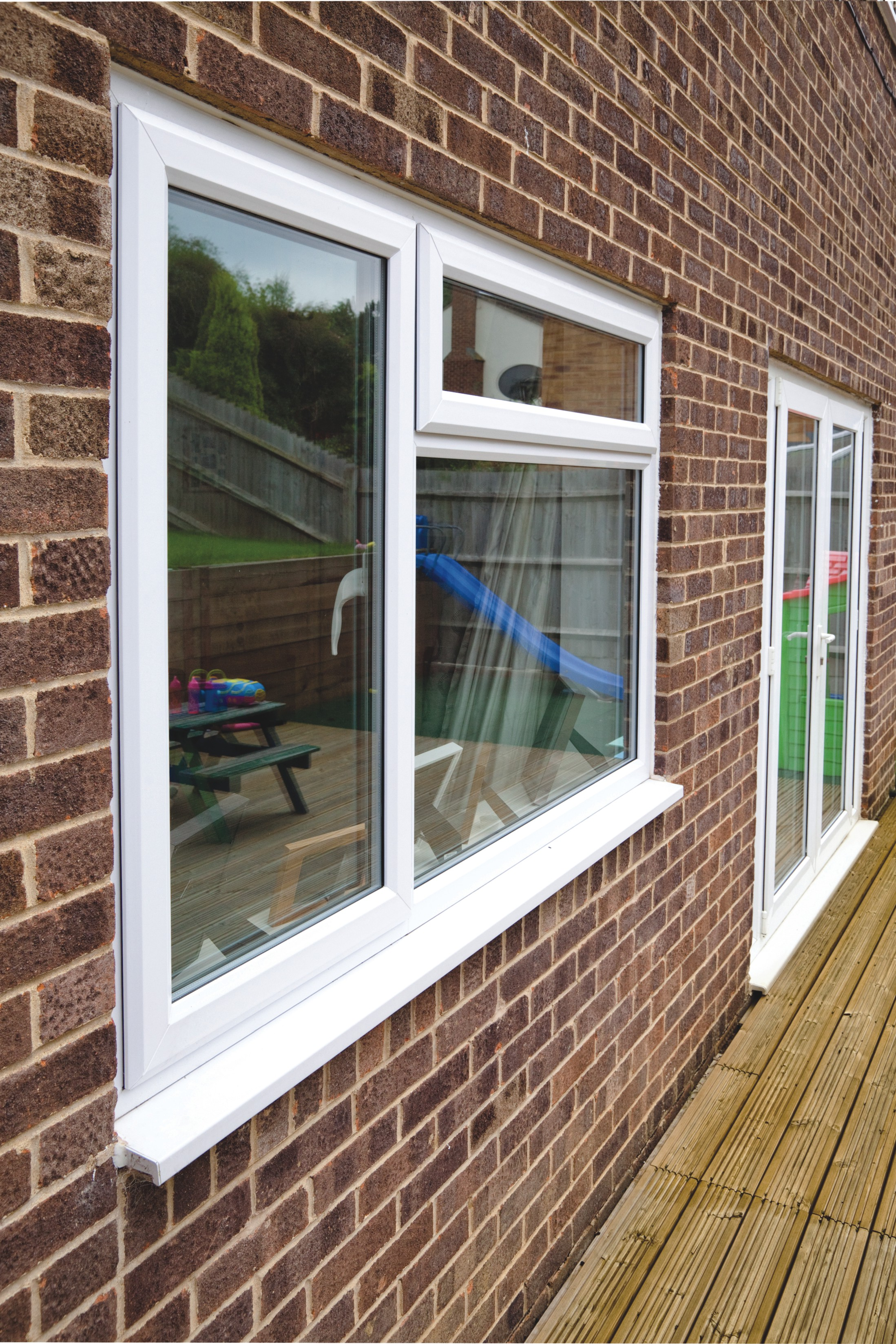 French patio doors custom designed and fitted in north devon for Upvc french doors black