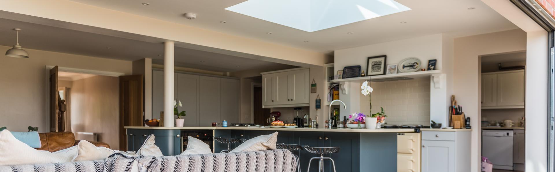 lantern roofing in a North devon kitchen