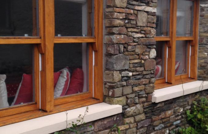 Casement style wooden windows in North Devon