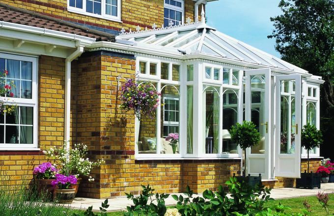 Combination style period and rectangular conservatories