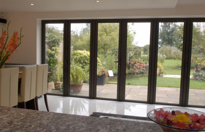 Wooden bi fold doors from Woodstock