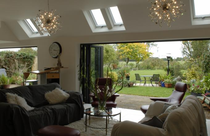 aluminium bi fold doors from Woodstock