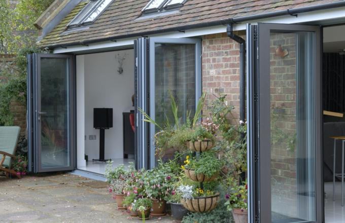 Bi-fold doors from Woodstock