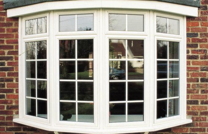 Sash windows in PVCu