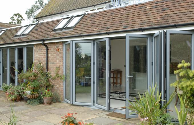 Woodstock aluminium casement windows in North devon