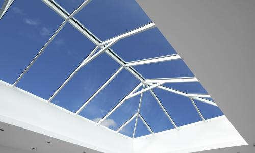 Lantern roof maximises the sunlight intake