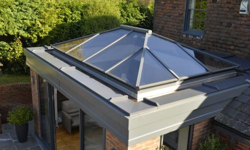 Lantern roof for an orangery