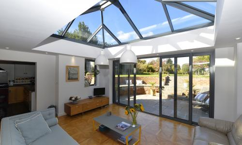Lantern roof windows for an orangery