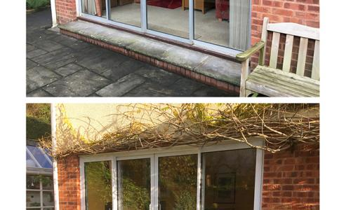 replacement aluminium patio doors before and after