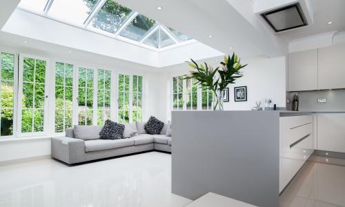 Skyroom extension to make a kitchen bigger