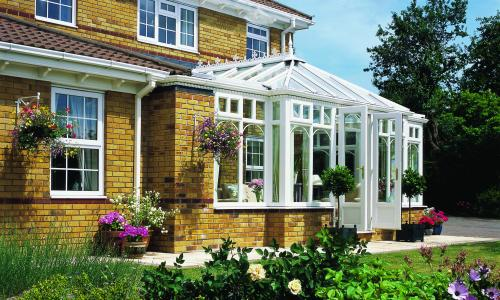 flat and Victorian Combination conservatory