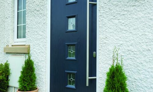 external composite door in blue