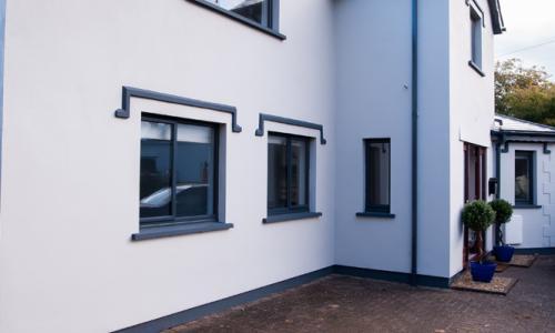 Exterior of house in North Devon with aluminium windows