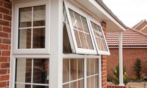 Modern build bay windows in Devon