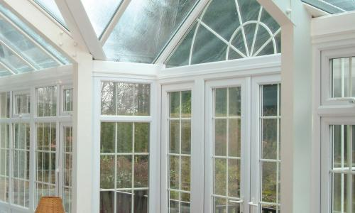 large pitch roof sun lounge conservatory
