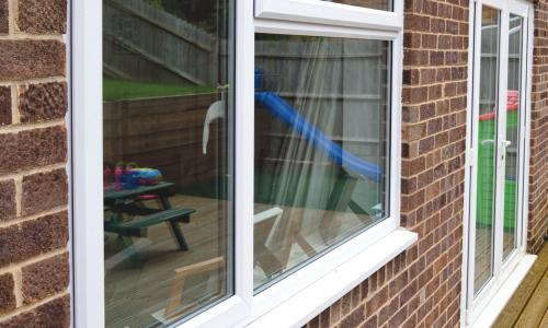 kitchen and french doors in upvc