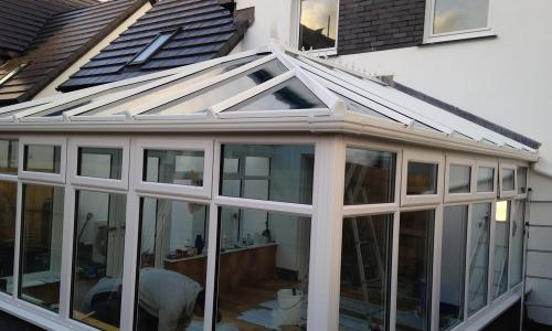 Finished lean to conservatory