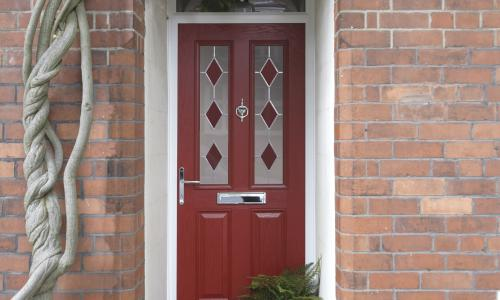 external door in red