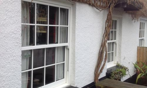 Sash windows at a North Devon pub