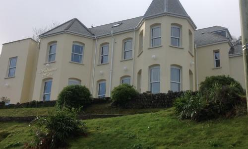 Sash windows at a large house in Ilfracombe