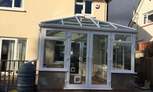 Simple lean to conservatory in Ilfracombe