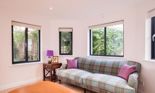 Lounge with aluminium windows  in North Devon