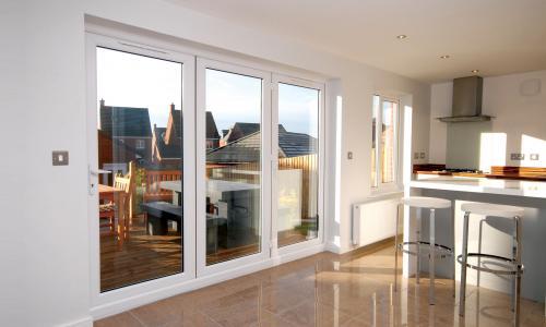 white upvs french patio doors