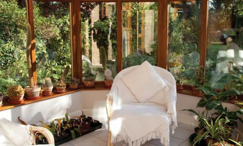 Victorian styled wooden conservatory