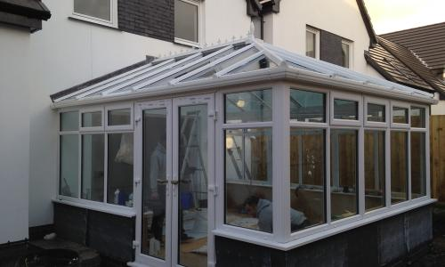 conservatory with side to access
