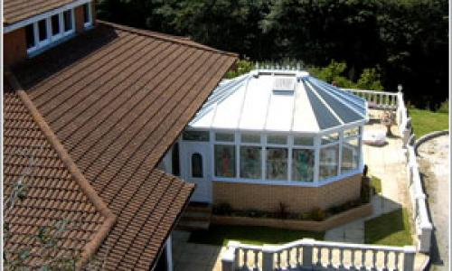 Arial view of North Devon conservatory
