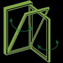Bi fold doors stack together