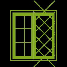 Astragal bars for casement windows