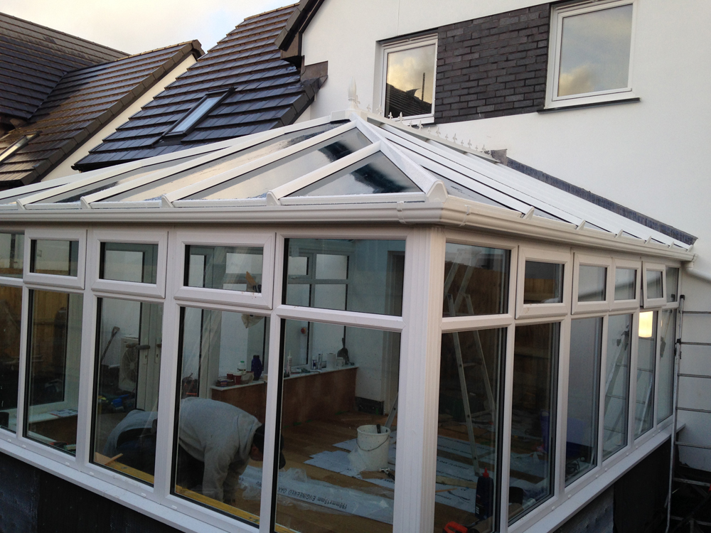 conservatory installation in Braunton